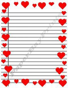printable lined paper with heart border apples borders frames bulletin board pinterest