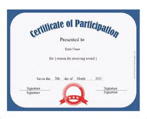 Certificate Of Participation Template Pdf by Doc 585477 Certificate Of Participation Template