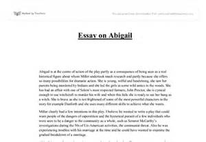Essay Character by The Crucible Character Analysis Essay