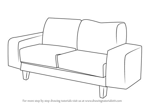 how to draw a couch easy learn how to draw a couch furniture step by step