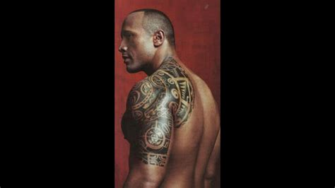 dwayne johnson tattoo anlami the rock dwayne johnson tattoos youtube