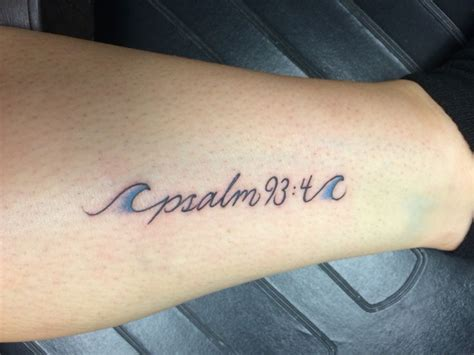 small verse tattoos 25 best ideas about psalm on god