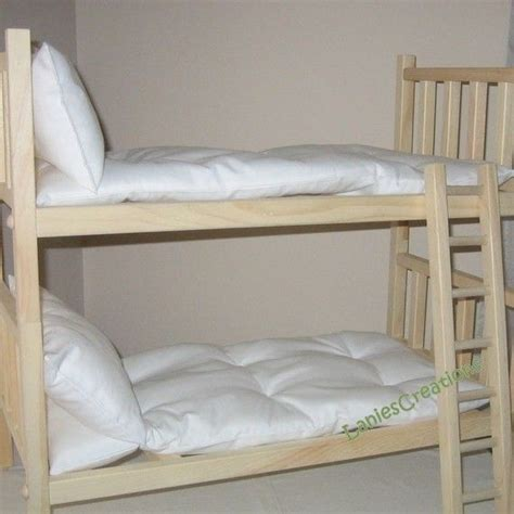 Wooden Doll Bunk Beds American Doll Bed 18 Inch Wood Doll Bed With Ladder 2 Singles Or Bunk Bed Includes