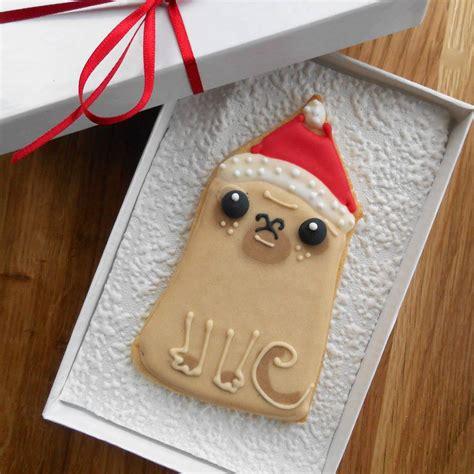 pug in santa hat santa hat pug by eat my cake notonthehighstreet