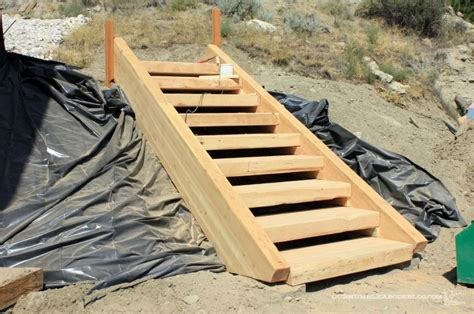 Build Wooden Build Wood Steps how to build wood stairs on a hillside