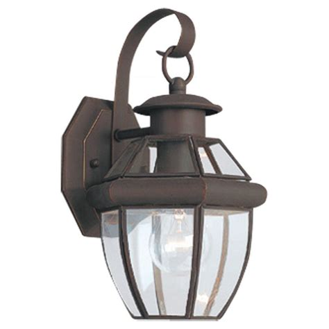 Home Depot Outdoor Light Fixtures Sea Gull Lighting Lancaster 1 Light Antique Bronze Outdoor Wall Fixture 8037 71 The Home Depot