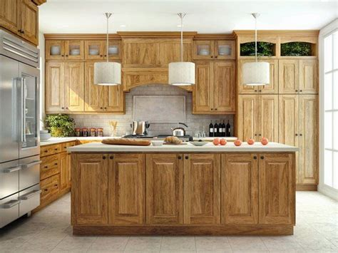 hickory kitchen island best 10 hickory kitchen cabinets ideas on