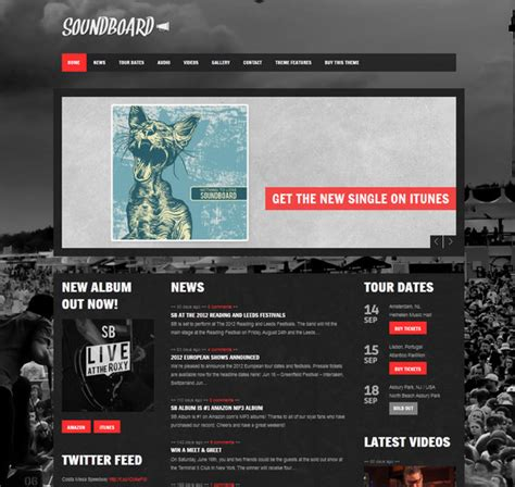 temi wordpress per rock band per realizzare siti web musicali