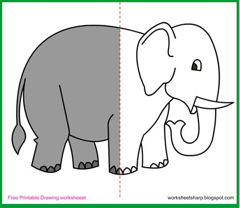 Drawing Printable Worksheets by Coloring Pages Free Drawing Worksheets Printable