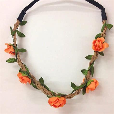 Flower Crown Mini mini orange flower crown headband for festival
