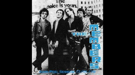 The Member the members in a lift peel session 1979