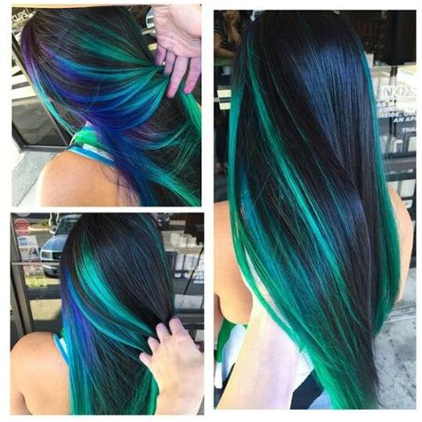 blue green hair color 25 best ideas about blue hair streaks on