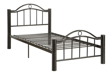 bed frame stands twin size oscar black finish metal bed frame night stand