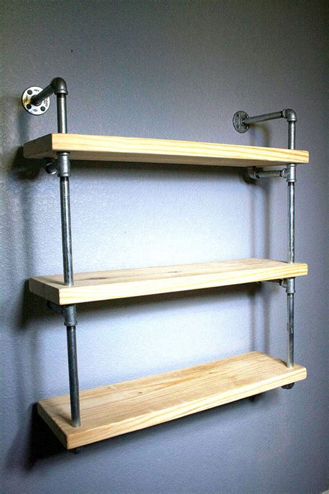 Industrial Bathroom Storage Bathroom Shelf Pipe Shelves Industrial Furniture
