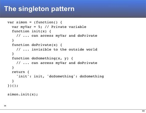 singleton pattern using javascript a re introduction to javascript