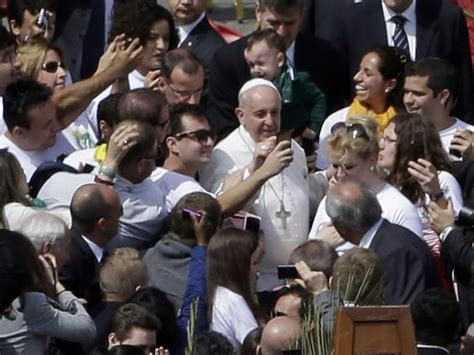 the pope of palm a novel serge storms books palm sunday pope francis poses for mass selfies the