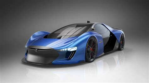 tesla supercar concept designer dreams up futuristic tesla supercar