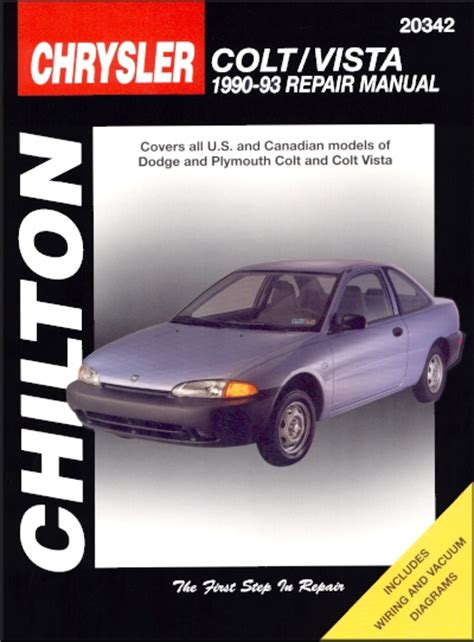 vehicle repair manual 1992 plymouth colt vista engine control dodge plymouth colt colt vista repair manual chilton 1990 1993