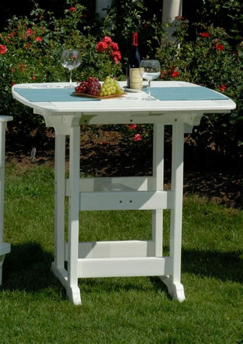 envirowood outdoor furniture seaside casual portsmouth 42x42 bar table
