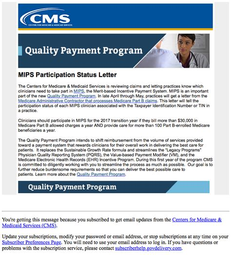 Patient Participation Letter lookup tool for quality payment program mips participation