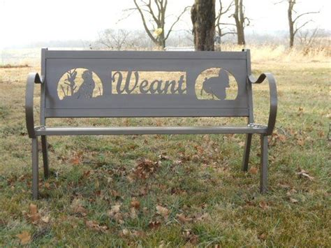 personalized garden bench custom personalized steel bench by hooper hill custom
