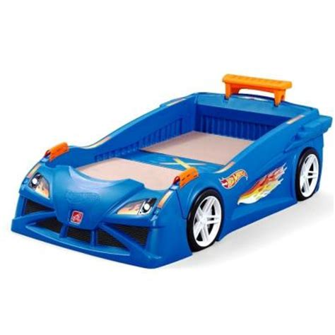 hot wheels bed step2 hot wheels toddler to twin size plastic bed frame in
