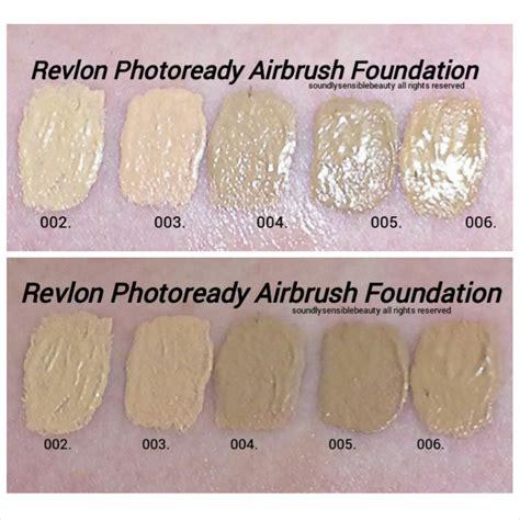 Revlon Foundation Photoready revlon photoready airbrush foundation review swatches