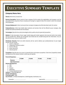 doc 12751650 one page executive summary template one
