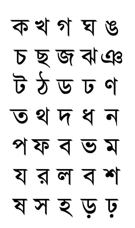Letter Bengali Bengali Alphabet May 2015
