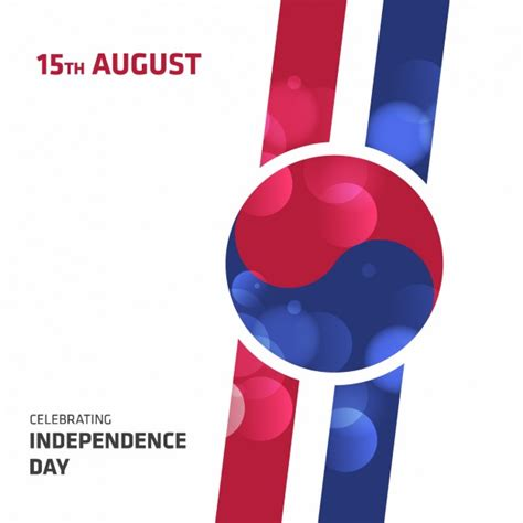 korean design korea independence day background design vector free