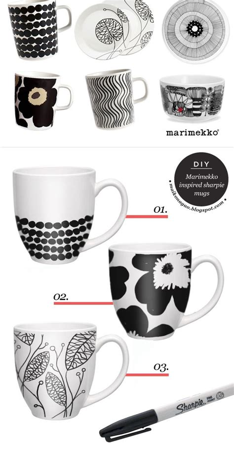 design mug with sharpie maiko nagao diy craft fashion design blog diy
