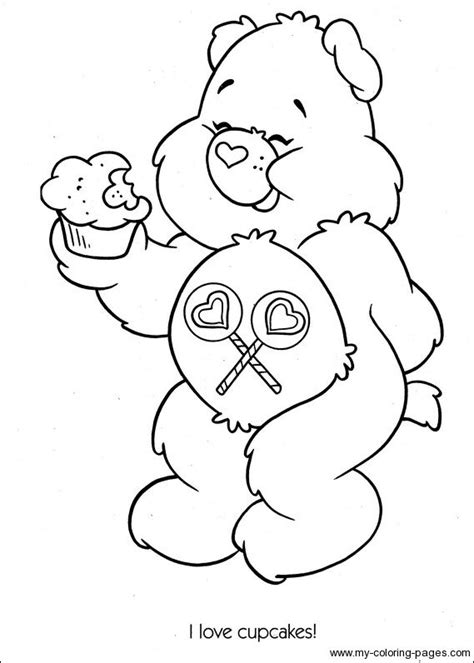 care bears coloring page 38 best care bear share bear 4 images on pinterest