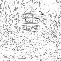 monet water lilies coloring sheet coloring pages