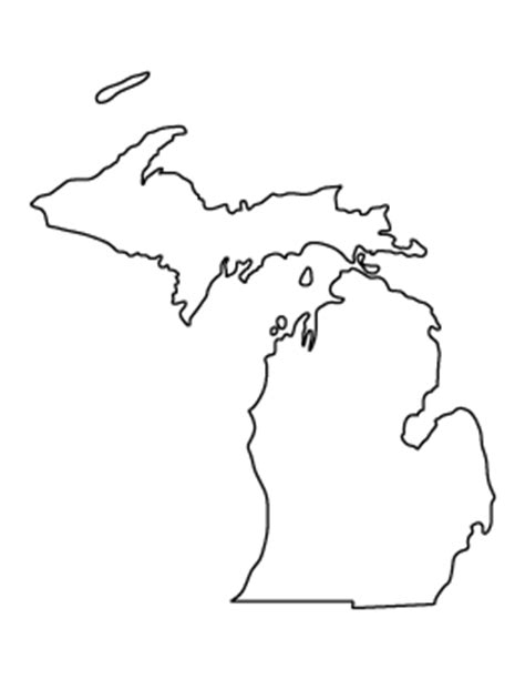 Printable Outline Of Michigan by Free State Patterns For Crafts Stencils And More Page 2