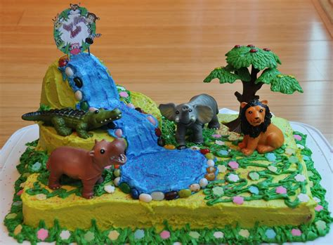 jungle themed birthday cake jungle party cake home made the restaurant fairy s kitchen