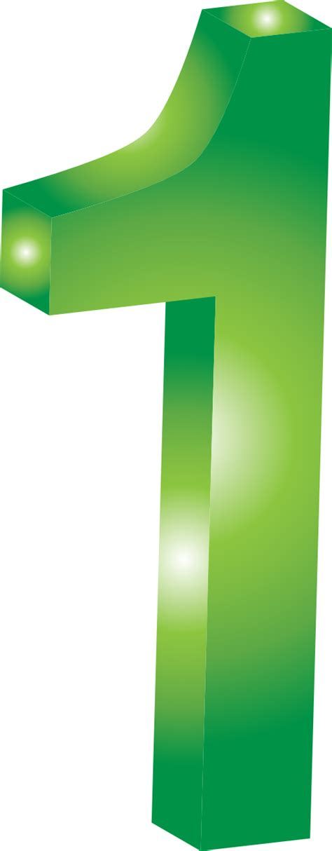 Green Mba Number 1 by One Clipart 51