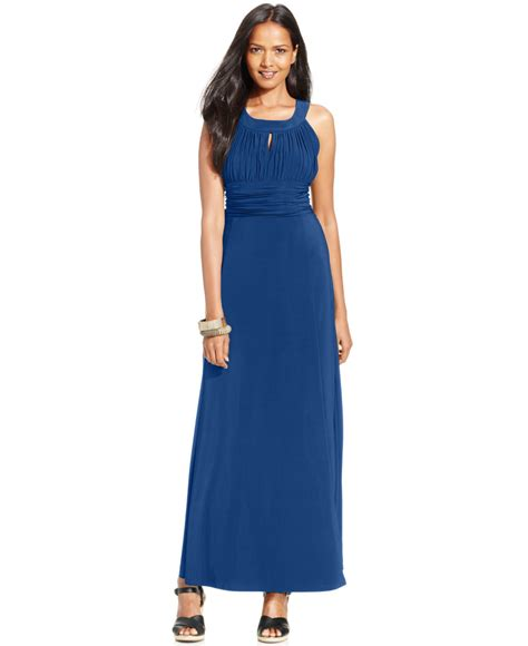 Style Co Dress style co style co ruched keyhole halter gown only at