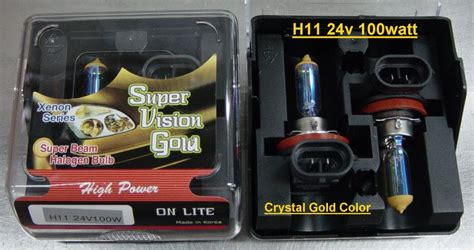 Lu Michiba Gold Vision H7 12v 55w lights halogen hyper silver bulbs lim battery electrical co