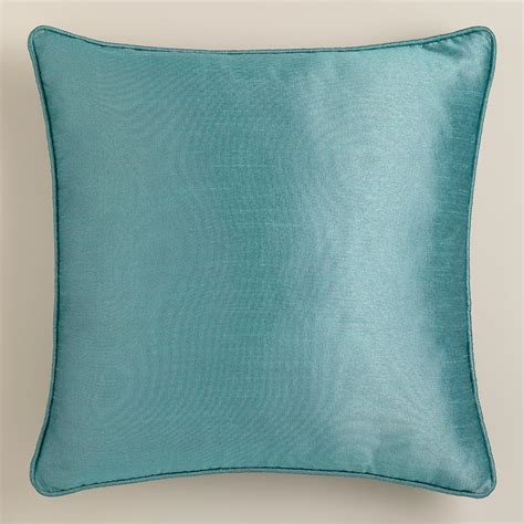 aegean dupioni throw pillow with piping world market