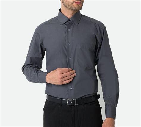 Jual Kemeja Pria Merk Alisan jual kemeja polos pria lengan panjang abu bahan seperti
