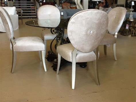 crystal embossed furniture dining chairs