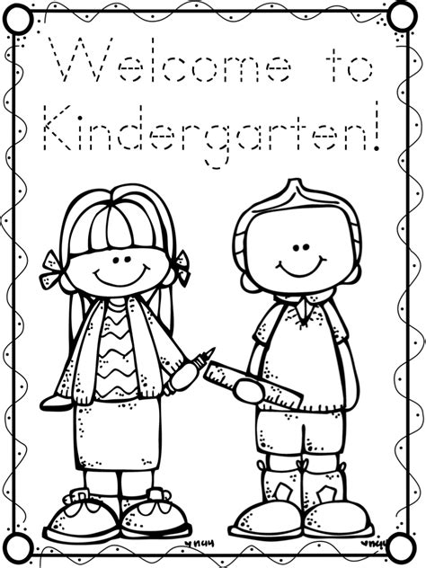 First Day Freebies A Teeny Tiny Teacher Day Of Kindergarten Coloring Page
