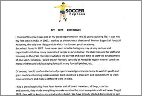 appreciation letter to a coach sept feedback