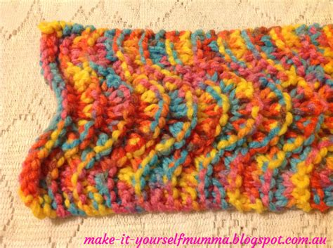 knitting pattern for rainbow scarf make it yourself mumma rainbow chunky knit lace scarf