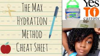The max hydration method cheat sheet 3c 4a hair update youtube