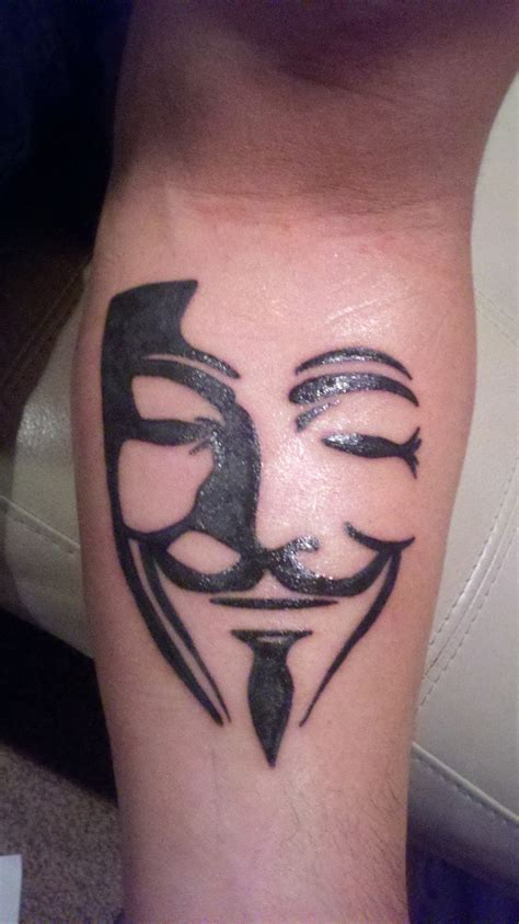 anonymous mask tattoo v for vendetta pictures at checkoutmyink