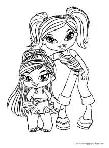 bratz color cartoon characters coloring pages color plate coloring sheet printable