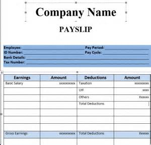 Malaysia Payslip Template by Get Salary Slip Format In Excel Microsoft Excel Templates