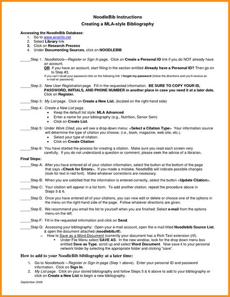 Bibliography For Essay by Annotated Bibliography Mla Format Template