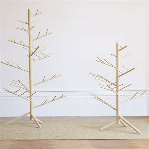 contemporary wooden alternative branch christmas tree by